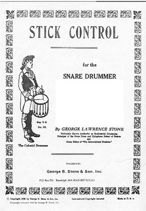 George Lawrence Stone Stick Control For The Snare Drummer